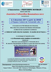 affiche_2 Decembre 2011_Printemps Roumain_Espace Culture