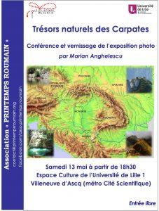 Affiche Exposition et Conférence - Trésors des Carpates